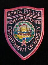 New Hampshire NH State Police Highway Patrol Patch PINK CANCER AWARENESS