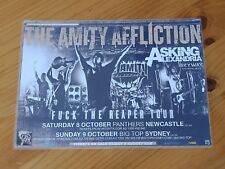 THE AMITY AFFLICTION - FUCK THE REAPER AUSTRALIA Tour - Laminated Tour Poster
