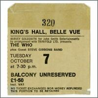 The Who 1975 King's Hall Belle Vue Manchester Concert Ticket Stub (UK)