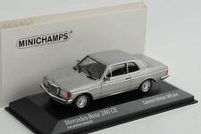 Mercedes-Benz  280CE 280 W123 Coupe silver 1976 diecast 1:43 Minichamps Maxicham