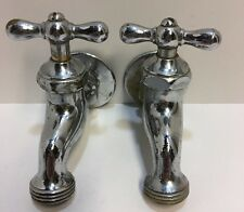2 Vintage Antique Water Chrome Faucets Sterling Company