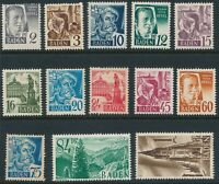 Stamp Germany SC 5N1-13 Set 1947 Post WWII Baden Occupation MNG