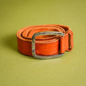 Levi's Brown Leather Jeans Belt Buckle Vintage Unisex Men's Women's Medium Large