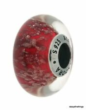 NWT AUTHENTIC PANDORA CHARM GLASS MURANO RED TWINKLE #796366