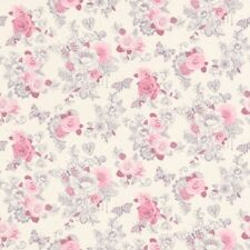 Delicate Small Pink Rose Wallpaper Floral Print Design by Rasch 202304