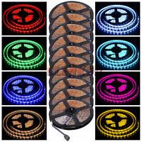 10X 5M 16ft 5050 RGB LED Strip Light Waterproof DC 12V Flexible Tape Ribbon