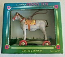 Schylling Penny Tin Toy Christmas Ornament Horse on Wheels