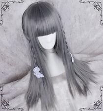 Cosplay Sweet Lolita Mix Daily Straight Hair Princess Harajuku Light Gray Wig