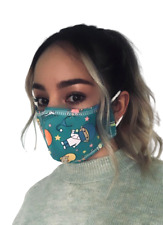 Handmade, 3 mask with antifluid Fabric and filter, washable. High quality