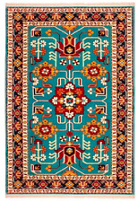 Persian Rug floor Carpet Runner Brand New Blue 100cm x150 authentic oriental