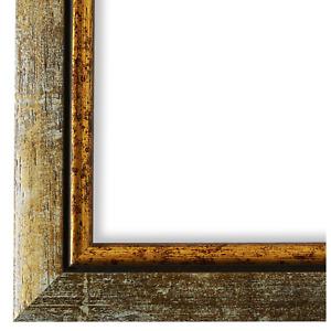 Bilderrahmen Grau Gold Holz Perugia 3,0 - 21x28 24x30 28x35 30x30 30x40 30x45