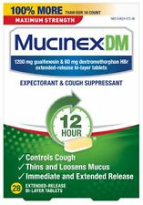 Mucinex DM 12 Hr Max Strength Expectorant - Cough Suppressant Tablets, 28 ct
