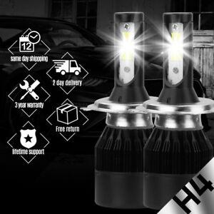 H4 HB2 9003 195000LM Fanless CREE LED Headlight Kit High/Low 6000K Bulbs Power