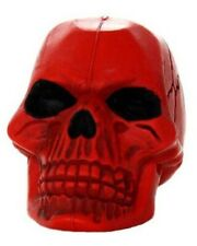 New Dog Puppy Toy Tuffy Rugged Rubber Red Skull XS Throwing Rope Chew VIP