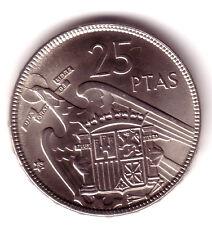 ESPAÑA: 25 Pesetas FRANCO 1957 *65* S/C año emisión 1965