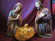 Weihnachtskrippe  Josef, Maria, Kind und 1 Hirte