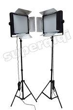 2x 2000 LED Videolicht Videoleuchte Kameralicht DSLR Kamera Camcorder DV Panel