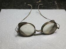 Vintage Wire Mesh Side Folding Safety Glasses Goggles Steam Punk