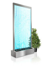 Elysium 2 13 M Bubble Wall Water Feature With Lights Remote Indoor Use