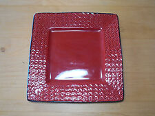 "Roscher VERONA RED SQUARE Salad Plate 8"" 1 ea                        3 available"