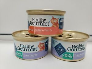 BLUE Healthy Gourmet Canned Catfood Grilled Salmon & Meaty Morsels Tuna Entree 3