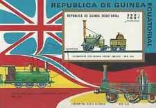 Timbre Trains Guinée équatoriale o lot 9501