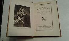 OEUVRE DE BOILEAU , L ' ART POETIQUE , CLASSIQUES QUILLET 1930 . TRES BON ETAT .