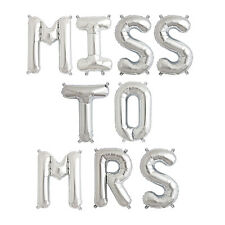 Party Supplies Silver 41cm Foil Letters Balloon 'MISS TO MRS' Wedding Engagement