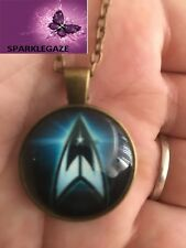 BRAND NEW 2018 STAR TREK BLUE WITH BRONZE PENDANT NECKLACE 186
