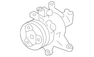 Genuine Subaru A/C Compressor 73111FJ041