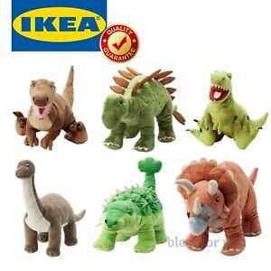 IKEA JATTELIK Dinosaur Soft Toy Collection Velociraptor Brontosaurus Triceratops