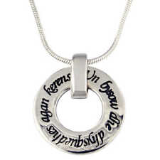Cornish Love Pendant / Love Ring Necklace - St Justin Sterling Silver - SP926