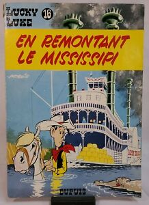 LUCKY LUKE No. 16: En Remontant Le Mississippi - Morris - 1972 Comic Softcover