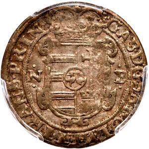 1628 NB Transylvania Groschen, PCGS AU 55, Hungary