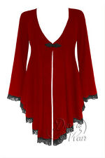 NWT WOMENS PLUS SIZE CLOTHING EMBRACE CORSET SWEATER IN RUBY RUNE  1X