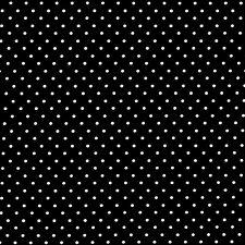 Michael Miller PINHEAD Polka Dots BLACK 100% COTTON FQ FAT QUARTER CX5514-BLACK