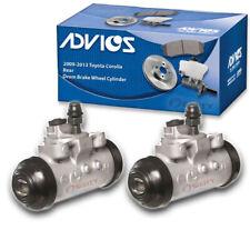 2 pc ADVICS Rear Drum Brake Wheel Cylinder for 2009-2013 Toyota Corolla  - lp