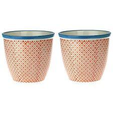 Pianta vaso di fiori. interni, esterni Giardino Fioriera-Arancione/Blu x2