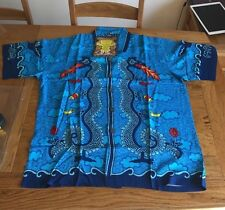 SURF  RARE MAMBO LOUD SHIRT Australian Hawaiian Blue Firebreathing Dragon Small