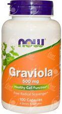 NOW Foods, Graviola x100caps - 24 ore Spedizione-FRESHEST disponibili GARANTITO!