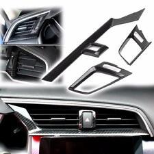3x Carbon Fiber Pattern Dashboard Air AC Vent Cover for 10th Honda Civic Sedan
