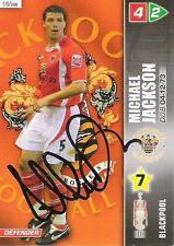 A Panini 2008 card. Featuring & personally signed by Michael Jackson Blackpool.
