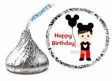 216 MICKEY MOUSE CLUBHOUSE CHILD BIRTHDAY PARTY FAVORS HERSHEY KISS LABELS