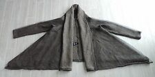 NWT Rundholz Black Label Wool with Mesh Overlay Draped Swing Cardigan Sweater M
