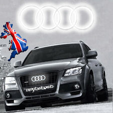 Audi LED Badge Emblem A3 A4 A5 A6 White Light Front Grill Glow Logo