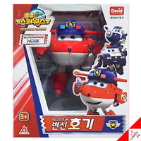Super Wings New Season3 JETT Police Team HOGI Transformer Robot Figure Toy - 5""