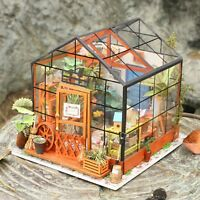 ROBOTIME DIY Dollhouse Wooden Miniature Furniture Garden Kits Toy Gift for Kids