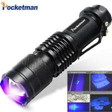 UV flashlight Mini LED Torch 395nm Violet Light LED Flash Light Aluminum Lamp