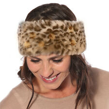 LADIES GIRLS FAUX FUR HEAD BAND EAR WARMERS SKI BAND EAR MUFFS
