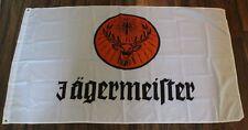 Large 3' x 5' NEW never opened White Jägermeister Flag - Banner - Backdrop